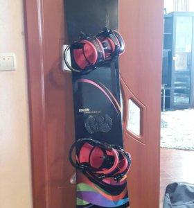 Сноуборд CSB Limited с креплениями, ботинками