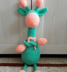 Вязаная игрушка Жираф (амигуруми)