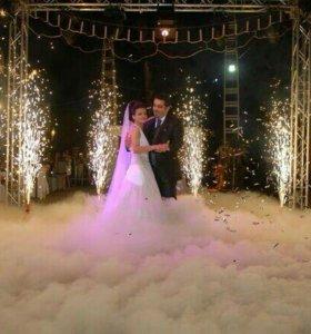 Тяжёлый дым на свадьбу, холодные фонтаны