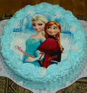Съедобные Вафельные картинки на торт