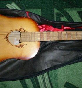 Гитара 6 струнная с чехлом