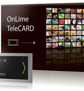Новый  Комплект цифрового ТВ OnLime TeleCard