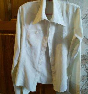 Рубашки р.46-48, белый, бежевый