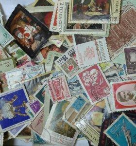 Марки почтовые из коллекции