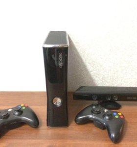 Xbox 360 +Kinect + 2 джостика 500gb
