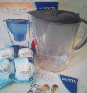 Филитр для воды Brita Marella XL + 4 картриджа