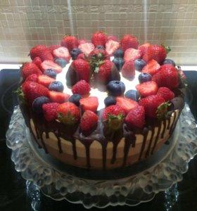 Торт домашний 3 шоколада