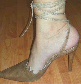Туфли кожаные на р.35☆