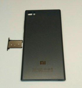 Задняя крышка для Xiaomi MI3, черная