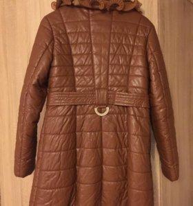Куртка зимняя с мехом кролика
