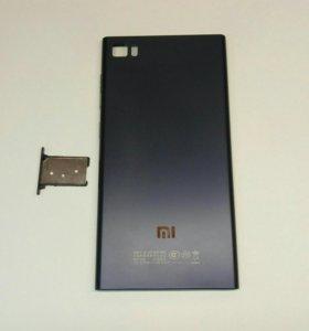 Задняя крышка для Xiaomi MI3, синяя