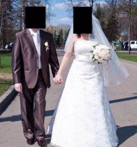 Свадебное платье и жакет