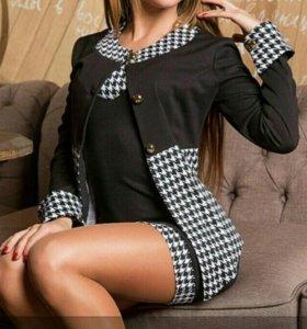 Костюм (платье с пиджаком)(размер 44-46)