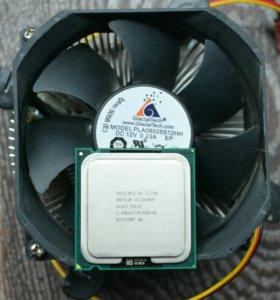 Процессор intel celeron e3200,socket775+куллер