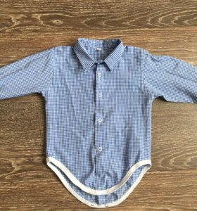 Рубашка-боди на 80 см