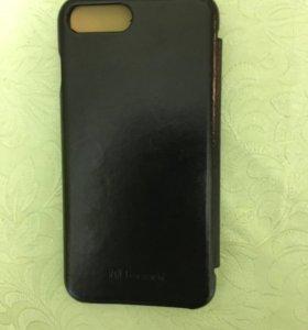 Чехол-книжка кожаный для IPhone 7