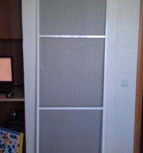Новая москитная дверь-сетка на балкон.