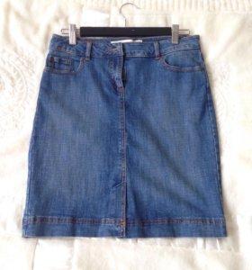 Новая джинсовая юбка Sela 44