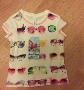 Новая футболка для девочки на рост 110