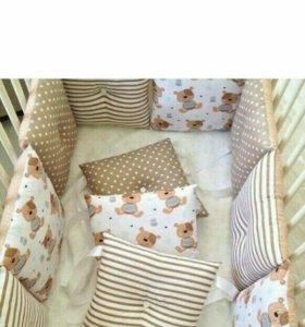 Пошив бортиков на кроватку и постельного белья