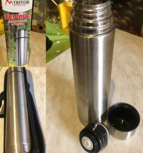 Термос металлический с чехлом, 1л