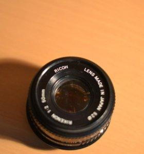 Объектив Rikenon 1:2 50mm Ricoh для камеры Pentax