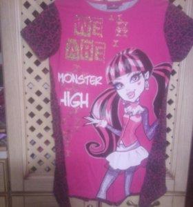 Туника Monster High для девочки.Рост-152см