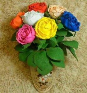 Искусственные цветы из фоммрана