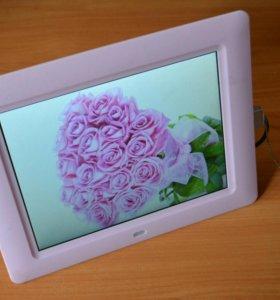Цифровая фоторамка розовая 8 дюймов
