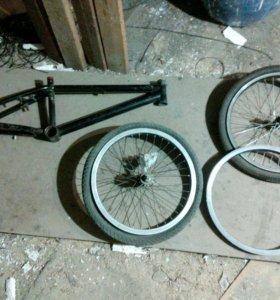 Рама бмх обод и колесо без звездочки