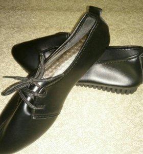 Обувь, черные ботинки на лето