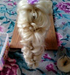 Плетение волос,вечерняя укладка,детские прически