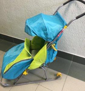 Санки-коляска Тимка 2 с колёсами