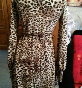 Леопардовое вечерние платье