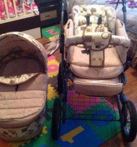 Детская коляска с рождения до 3-х лет.