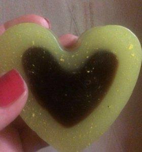 Мыло сердце 2 в 1