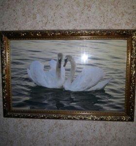 "Картина "" лебеди"""
