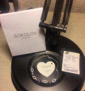 Продам серебренный браслет SOKOLOV