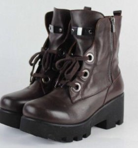 Ботинки новые Кожа!