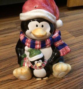 Пингвин керамический
