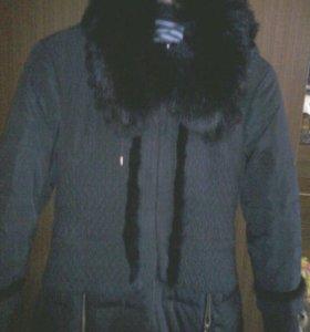 Зимнее пальто-пуховик.