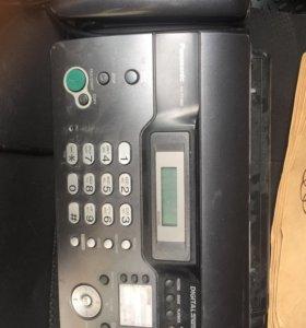Факс с телефонной трубкой