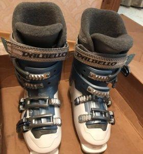 Горнолыжные ботинки+лыжи с палками