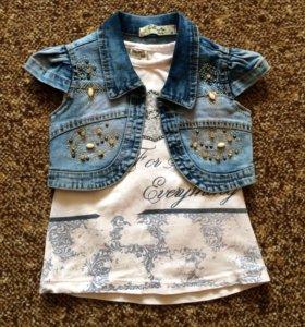 Новое джинсовое болеро для модняшки