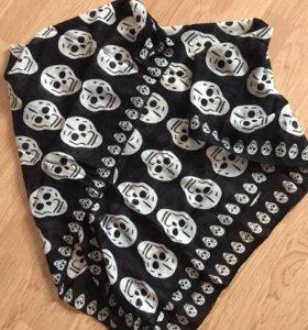 Косынка бандана шарф с черепами