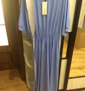 Шикарное голубое платье в пол. Новое!