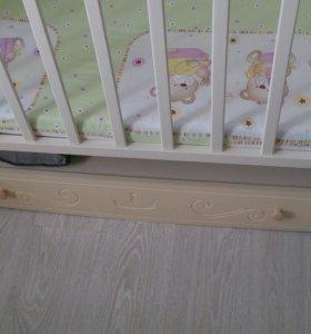 Кроватка детская с матрасиком
