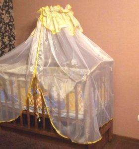 Балдахин для детской кроватки с держателем