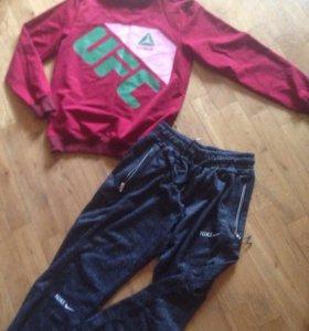 Свитшот новый, спортивные штаны на 44-46