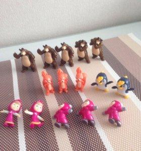 Игрушки из киндера Маша и медведь